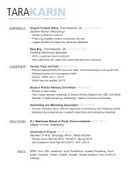 Simple, clean resume design with clear section headings .