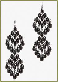 black chandelier earrings uk