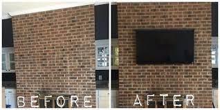 mounting tv on brick fireplace annqe