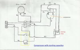 wiring diagram capacitor start run motor images motor run repair wiring diagram of compressor starting capacitor