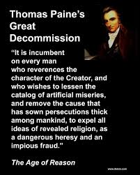 thomas paine s great decommission thomas paine great decommission