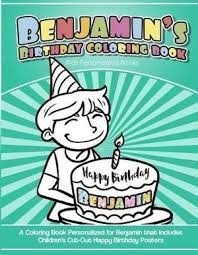 Benjamins Birthday Coloring Book Kids Personalized Books A