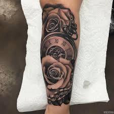часы и розы тату на предплечье у девушки добавлено иван вишневский