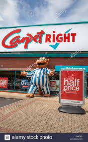 carpetright. inflated hippopotamus at the up to half price summer sale carpetright a specialist chain retailer ,
