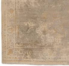 38404 hrl102a 9 heirloom transitional wool and silk ivory green gray gold fine indo heirloom