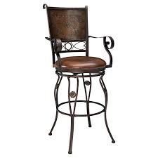 how tall are counter height stools. Powell Big \u0026 Tall Copper Stamped Back Swivel Bar Stool With Arms | Hayneedle How Are Counter Height Stools
