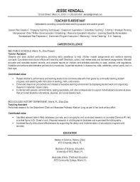 Resume Teacher Assistant Kordurmoorddinerco Enchanting Teaching Assistant Resume