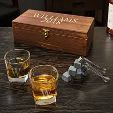 schaefer personalized whiskey stones and 6 oz shot gles gift set