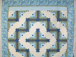 Colorado Log Cabin Quilt -- gorgeous carefully made Amish Quilts ... & ... Blue and Yellow Colorado Log Cabin Quilt Photo 2 ... Adamdwight.com