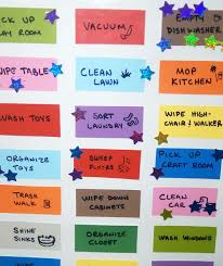 I Love This Chore Chart Idea Use Paint Chips On Poster
