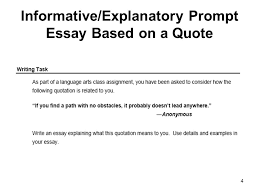 How To Write A Quote Magnificent InformativeExplanatory Prompt Essay Based On A Quote Ppt Video