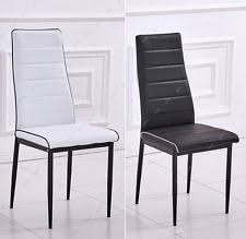 faux leather restaurant dining chairs. modern dining chair black/white contrast piping faux leather kitchen restaurant chairs .