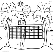 Small Picture Printable Volleyball Coloring Pages For Kids Cool2bKids Sports