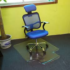 pvc home office chair. 1PC Lipped Office Chair Desk T-Shaped Carpet Protector Mat PVC Clear With Grips Pvc Home U