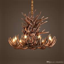 antler chandelier vintage style resin deer horn elk mini pendant light lamp chandeliers whitetail cast