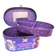 disney frozen bedroom in a box. disney frozen oval train carry case - vanity jewellery box girls bedroom accessory gift in a