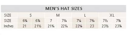 Sizing Charts Pendleton Mens Hats Cabelas