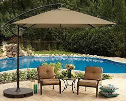 48 foot square cantilever offset umbrella