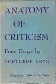 anatomy of criticism  a scan of the front cover of the first edition the cover reads