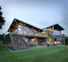 great home designs. hurricane-proof wood \u0026 steel waterfront home - long island, new york great designs o