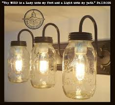 mason jar lighting. mason jar vanity light new quart trio the lamp goods lighting o