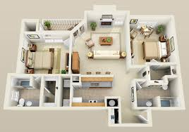 Amazing 3 Bedroom Apartment Floor Plans Incredible Decoration Three