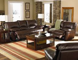 Modern Living Room With Brown Leather Sofa Livingroom Furniture Modern And Traditional