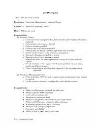 Stocker Job Description For Resume Warehouse Inventory Management Clerk Resume Stock Manager Job 20