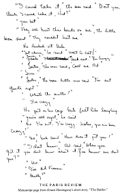 example of hemingway writing style hemingway s writing style essay example for