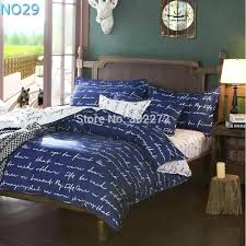 spring and autumn cotton bedding sets duvet cover bed sheet minimalist style checd fashion 3 blue
