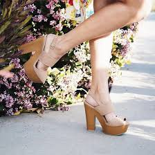 shoes chunky heel platform heels wooden heel trendy fashion style strappy heels chic girly trendy qupid