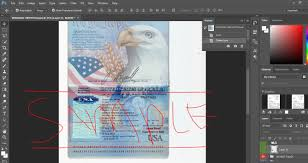 Us Passport Template Psd Usa Passport Psd Template Passportpsd