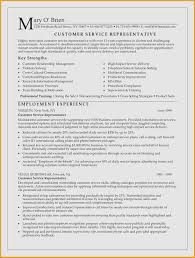 Resume Examples For Customer Service New Customer Service