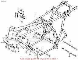 Honda cb750 frame blueprints 1