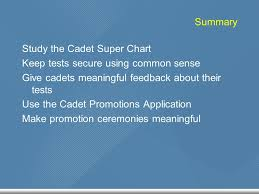 Cadet Super Chart Cadet Advancement Testing Records Training Leaders Of