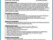 Security Consultant Resume Free Resume