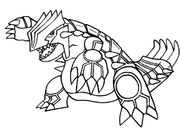 Pokemon Coloring Pages Groudon Legendary Pokemon Coloringstar