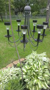 cool repurposed chandelier from thrift into outdoor solar battery operated wirelessowered chandeliers light bulbs for living