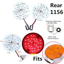 2 Rear 1156 Red Smd Led Turn Signal Panel Light Bulb For Harley Davidson Touring 1156 Red