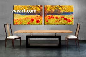 dining room photo canvas 2 piece canvas art prints scenery canvas print scenery on 3 panel wall art flowers with 2 piece red flowers yellow scenery artwork