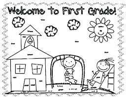 First Grade Coloring Pages Grade Coloring Pages First Day Of