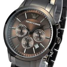 emporio armani ar2454 coolwatch31 new emporio armani mens watch classic gunmetal chrono stainless steel ar2454