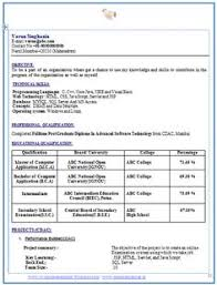 Sample Template Of An Excellent B Tech Ece (Electronics And ...