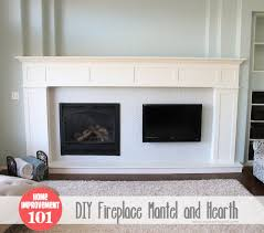Diy Fireplace Mantel Home Improvement Build Your Own Fireplace Mantel Hearth