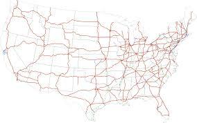 Interstate Mileage Chart List Of Interstate Highways Wikipedia