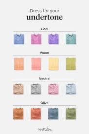 Skin Color Makeup Chart Skin Undertones Chart Warm Cool Neutral Pink Yellow