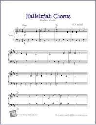hallelujah piano sheet music hallelujah chorus handel free easy piano sheet music