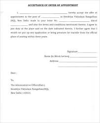 Offer Letter Acceptance Mail Format Offer Acceptance Letter Sample 9 Examples In Word Pdf