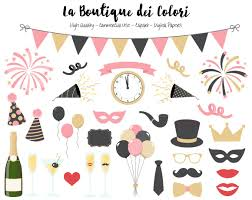 happy new year clipart. Perfect Happy Pink And Gold New Years Clip Art Cute Illustrations PNG Year Party Throughout Happy Year Clipart E