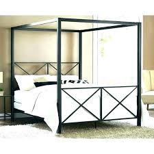 Platform Canopy Bed Slate King Canopy Platform Bed With Platinum ...